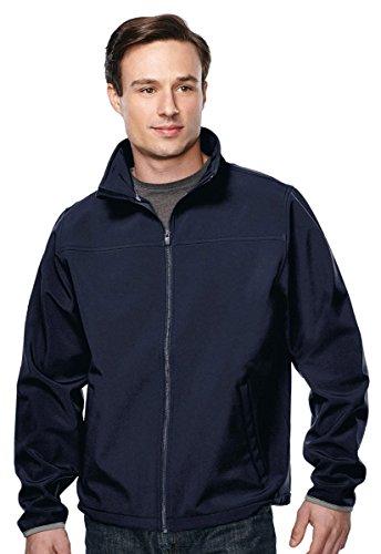 Tri-Mountain Soft Shell Waterproof Sretch-Fit Peak Performance Jacket. (Blue Micro Performance Fleece)