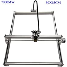 Zowaysoon 50X65CM 7W Desktop Mini Laser Engraver DIY Laser Cutter Etcher Metal Iron Stell Stone Ceramic 450nm 7000MW Engraving Image Logo Printer