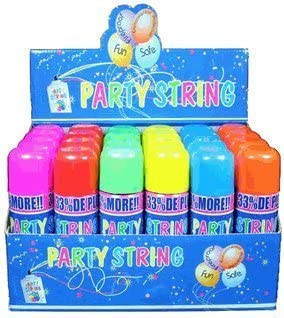 Whoa...Stuff! Blue Box Party String not Silly String 72 Cans