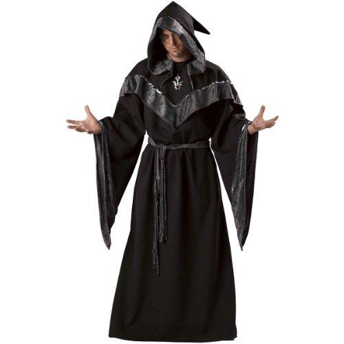 InCharacter Costumes Men's Dark Sorcerer Full Length Robe, Black, X-Large ()