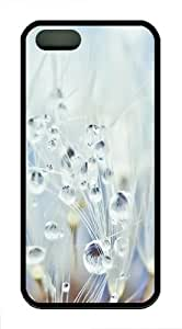 Apple iPhone 5/5S Cases and Cover Dandelions with Water Drops TPU Rubber Case for iPhone 5 and iPhone 602S - Black