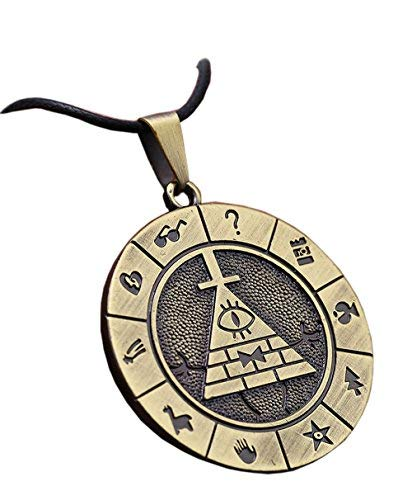 (Bill Cipher Necklace Cosplay Costume Pyramid Pendant Accessories Props )