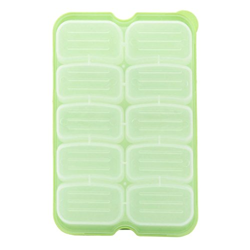 Gift Single Layer Refrigerator Food Airtight Storage Container Plastic Box (Green)