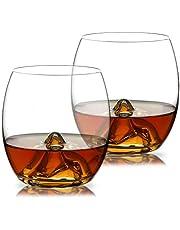 WOQO Bicchieri Bicchieri Set di 2, Grandi Bicchieri d'Acqua da 400 ml, Bicchieri Bicchieri da Cocktail, Stemless Premium Bicchieri da Vino con Regalo in Scatola