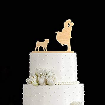 Pug Cake Topper Pug Wedding Cake Topper Pug Wedding Pug Gift