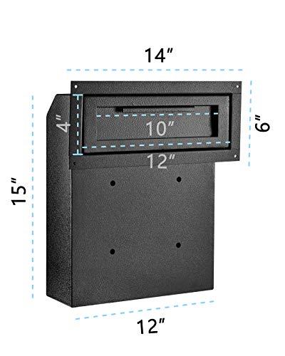 AdirOffice Through-The-Door Safe Locking Drop Box (Black) ()