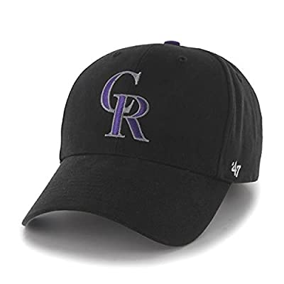 "Colorado Rockies 47 Brand MLB Youth ""Basic MVP"" Structured Adjustable Hat"