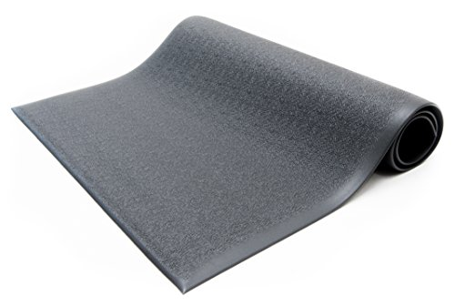 Bertech Anti Fatigue Vinyl Foam Floor Mat, 3' Wide x 5' Long x 3/8'' Thick, Textured Pattern, Black, Bevelled on All Four Sides (Made in USA) by Bertech