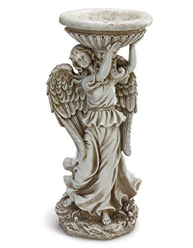 - Standing Angel Holding Urn 19.25 Inch Resin Decorative Indoor Outdoor Birdfeeder Statue