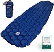 ECOTEK Outdoors Hybern8 Ultralight Inflatable Sleeping Pad with Contoured FlexCell Honeycomb Design - Easy to