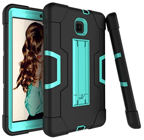 Galaxy Tab A 8.0 2018 Case, Dooge 3 Layers PC Silicon Armor Defender Heavy Duty Shock-Absorption Rugged Hybrid Protective Case with Kickstand for Samsung Galaxy Tab A 8 (2018) SM-T387 Verizon/Sprint ()