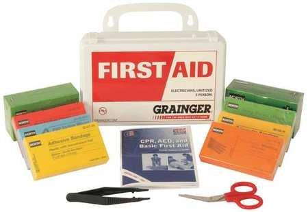 First Aid Kit, Unitized, White, 13Pcs, 10Ppl
