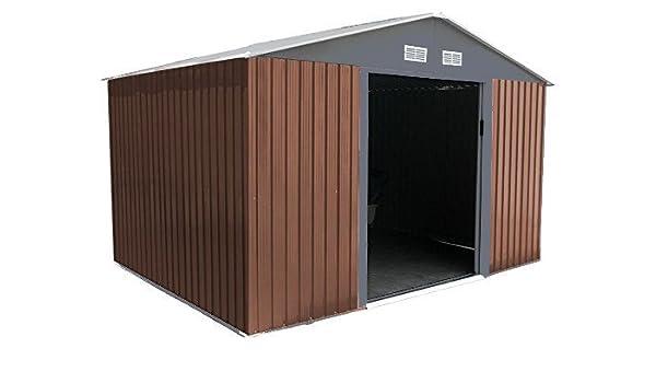 spacehuts cobertizo de Metal para bicicleta, almacenamiento de jardín con base, 3 x 3, 65 m, Madera: Amazon.es: Jardín
