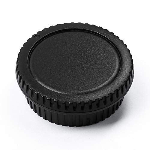 Camera Body Cap and Lens Rear Cap Cover Replacement Set for All Canon EOS EF Mount DSLR Cameras 6D Mark II 5D Mark IV…