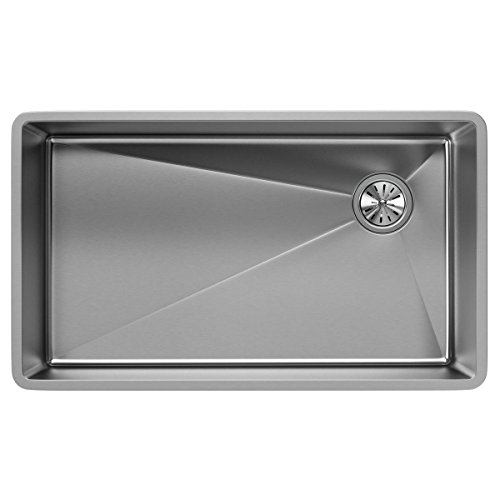 (Elkay ECTRU30179RT Crosstown Single Bowl Undermount Stainless Steel Sink)