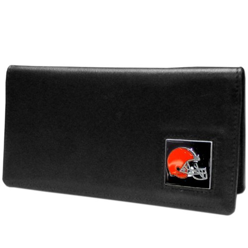 NFL Cleveland Browns Leather Checkbook Cover Checkbook Cover Nfl Football