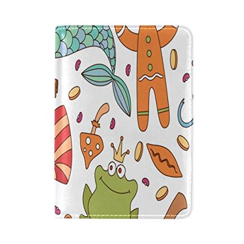 Passport Cover Case Magic Boots Psychedelic Magical Cute Leather&microfiber Multi Purpose Print Passport Holder Travel Wallet For Women And Men 5.51x3.94 In