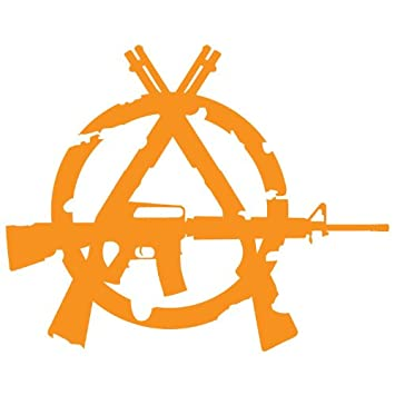 3 Gun Anarchy Symbol Decal Orange Turn Signal Bulbs Amazon Canada