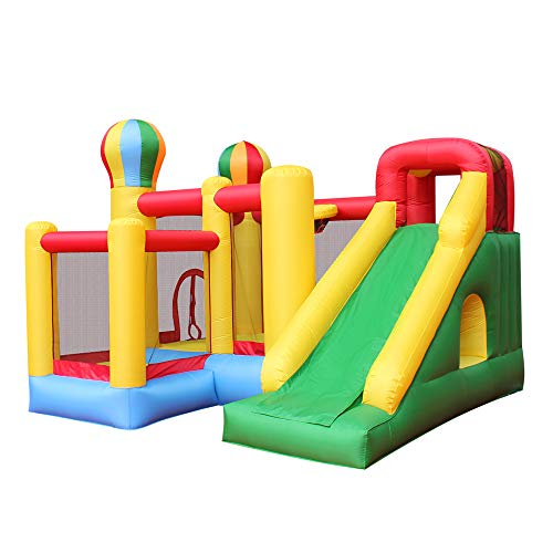 - RETRO JUMP Inflatable Bounce House Castle Jumper Moonwalk Slide Bouncer Kids Jumper with Balls and Blower