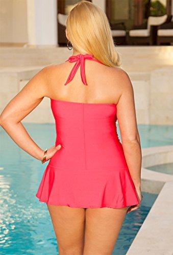 Shore Club Women's Bandeau/Halter Twist Front Swimdress