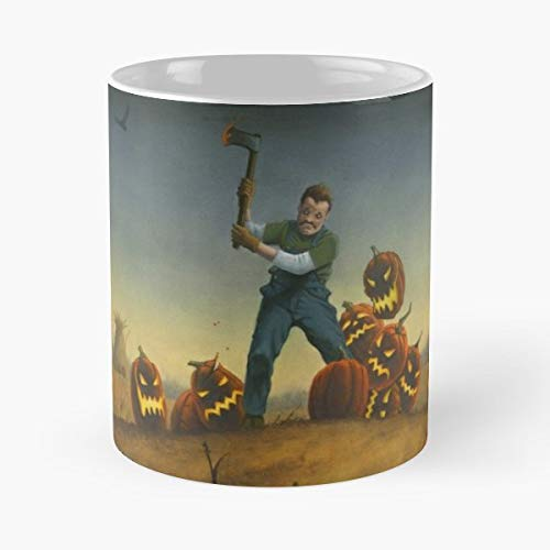 Halloween Pumpkin Jack O Lantern - Coffee Mugs Unique Ceramic Novelty Cup]()
