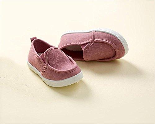 ALUK- Zapatos de bebé Deportes Casual zapatos de lona versión coreana de comodidad simple ( Color : Pink , Tamaño : 27 ) Pink