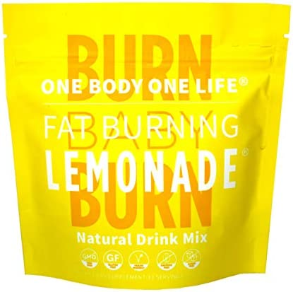 Fat Burning Lemonade All Natural Slimming Weight Loss Drink for Men Women, Pre Workout Energy Booster Post Workout Recovery Boost Metabolism Burn Calories All Day Lose Weight Celebrity Endorsed