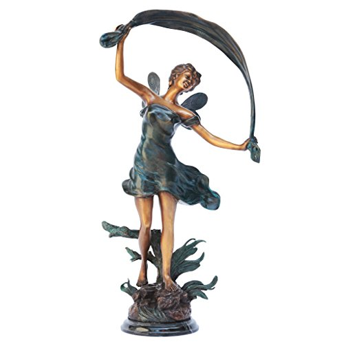 Design Toscano The Dancing Fairy Bronze Garden Statue