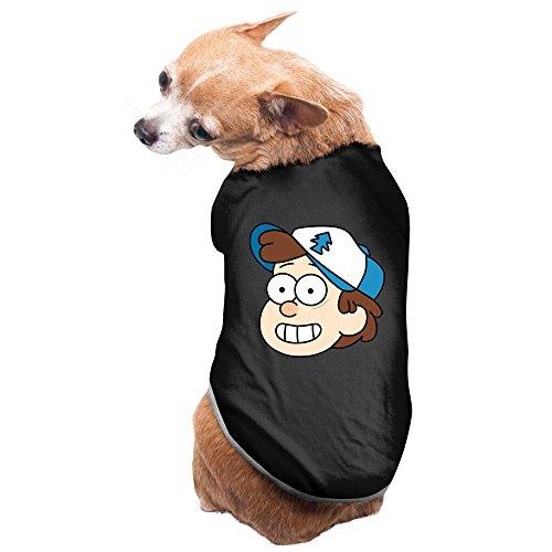 Mabel Sweater Costume (Black Gravity Falls Cartoon Dipper Mabel Alex Hirsch Pet Supplies Dog Costume Dog Sweater)