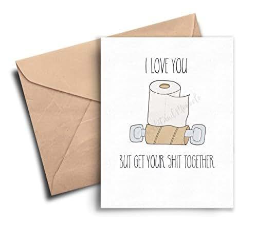 Funny Boyfriend Birthday Card Birthday Card By: Amazon.com: Funny Valentines Day Card For Him