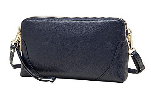 Designer Ladies Shoulder Body bag Bags Womens Genuine Cross SAIERLONG Bags Clutches Blue Wristlets Leather gpv5qqwd