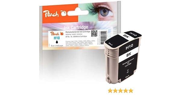 Cartucho de Tinta Negra de Peach Compatible con HP Nr. 10, C4844A ...