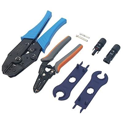 Signstek MC4 MC3 Solar Crimping Tools Connector Crimp Tool Set for Solar Panel Cable