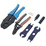 Signstek MC4 MC3 Solar Crimping Tools Connector Crimp Tool Set for Solar Panel Cable