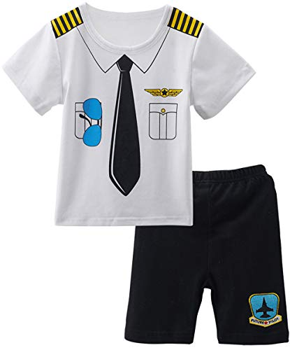 - COSLAND Toddler Baby Boys' 2 Pieces Pilot Clothing Shorts Sets (Pilot, 18-24 Months)