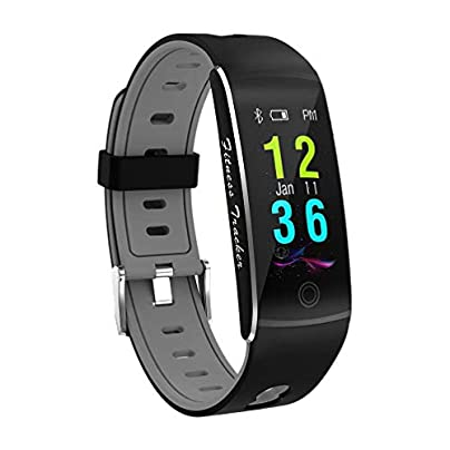 TOOGOO Fitness Tracker Smart Bracelet F10 Color Display Heart Rate Monitor IP68 Waterproof PressScreen Bluetooth Pedometer Wristband Sleep Monitor for Women Men Android And IOS Gray Estimated Price -