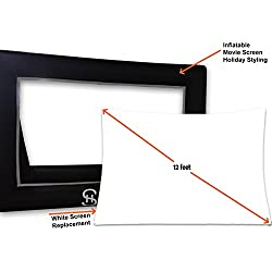 Holiday Styling Projector Screen Replacement (White Part Only 12ft) to Inflatable Outdoor Portable Movie Screen