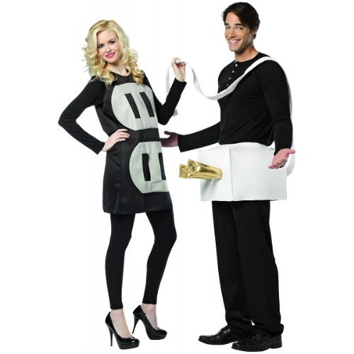 His And Her Halloween Costumes (Rasta Imposta Lightweight Plug and Socket Couples Costume, Black/White, One Size)