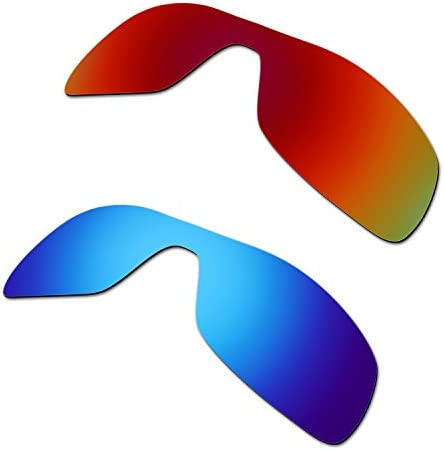 HKUCO Plus Mens Replacement Lenses For Oakley Antix Sunglasses Red/Blue Polarized