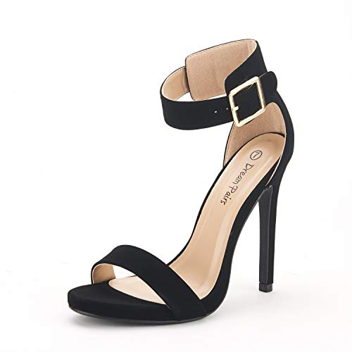 - DREAM PAIRS Women's Elegantee Black Suede Classic Pumps Heel Sandals Size 6.5 US