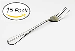 ANFIMU Set of 15 - Stainless Steel Restaurant & Hotel Quality Elegance Dinner Forks