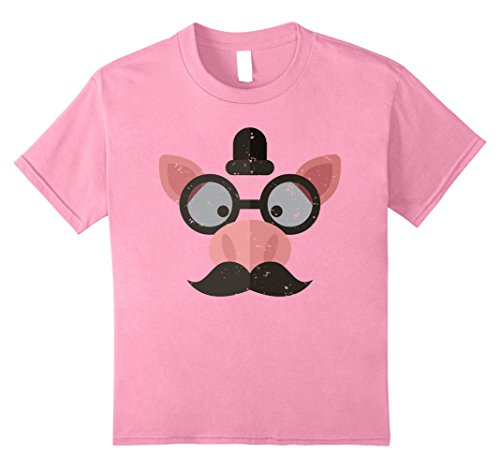 Nerdy Girl Halloween Costume Ideas (Kids Emoji Pink Pig Face T-Shirt Halloween Costume 8 Pink)
