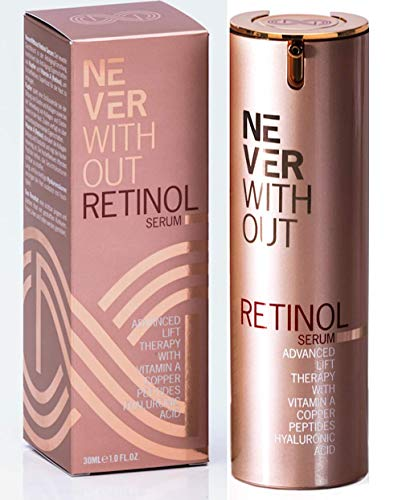 RETINOL SERUM Highly Effective Anti Aging Serum & Retinol Cream Moisturizer -Made in Germany- Face Serum With Vitamin A, HYALURONIC ACID & Copper LIFTING Peptides Wrinkle Cream Antiaging (Best Anti Aging Habits)