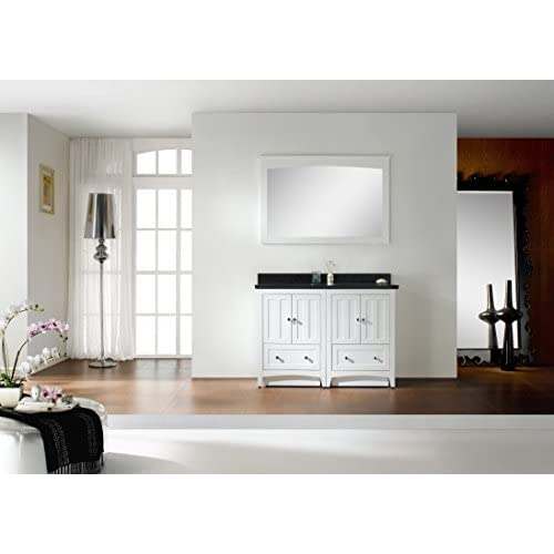 """Jade Bath JB-17780 47.5"""" W x 18"""" D Plywood-Veneer Vanity Set, White low-cost"""