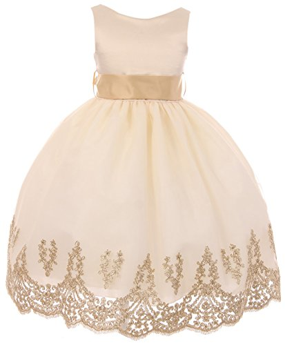Designs Of Dresses For Girls - Big Girls' Sleeveless Lace Embroider Party