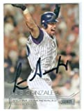 Luis Gonzalez autographed baseball card (Arizona Diamondbacks 2001 World Series Hit) 2015 Topps Stadium Club #262