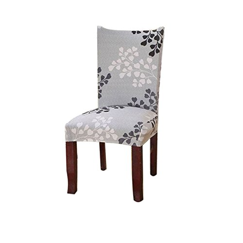 Kaariss Stretch Removable Washable Short Dining Chair Protector Cover Slipcover, 27 (Slipcovers For Dining Room Chairs With Rounded Backs)
