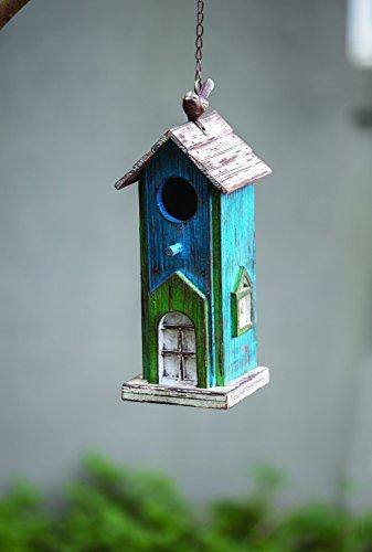 Manual Woodworkers Lazy Bird Inn Wood Birdhouse 5.25X4.75X13.75