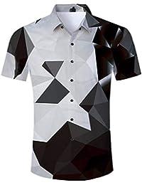 fcb8219ea6a 2019 Trend Men s Hawaiian Shirt Button Down Party Casual Holiday Camp Beach  Shortsleeve Aloha Tee