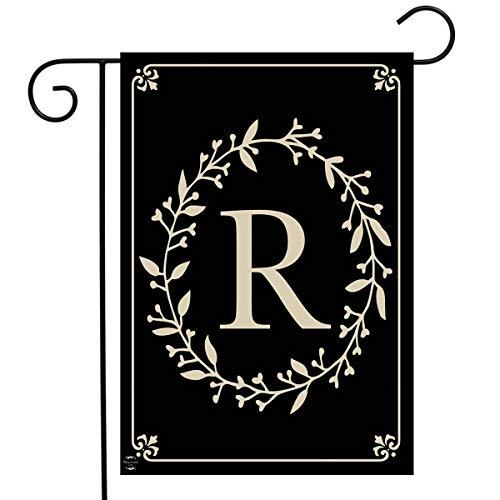 Initial Garden Flags (Briarwood Lane Classic Monogram Letter R Garden Flag Everyday 12.5